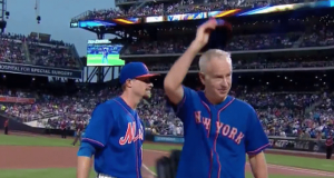 John McEnroe Throws Gas Prior To New York Mets, Yankees Game (Video)