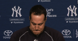 Retiring Mark Teixeira Overcome With Emotion (Video)
