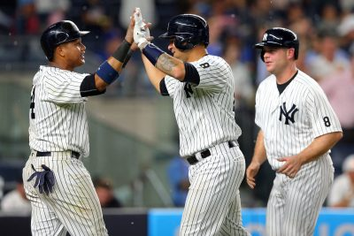 Gary Sanchez's (Middle) rise to stardom may be the beginning of the end for Brian McCann (right).