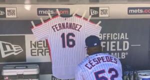 New York Mets: Yoenis Cespedes Honors Jose Fernandez In Dugout (Video)