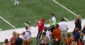Notre Dame QB Malik Zaire Hits Somebody In Face With Ball (Video)