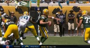 Aaron Rodgers Is Already Making Ridiculous Throws (Video)