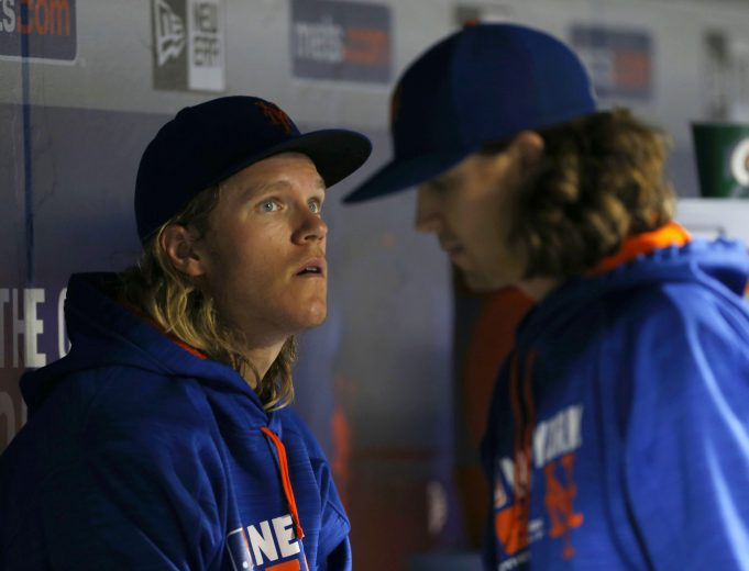 New York Mets' Noah Syndergaard Wearing A Contamination Suit For Strep Throat?