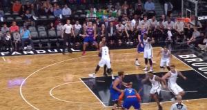 New York Knicks' Carmelo Anthony Puts Rondae Hollis-Jefferson On Mini-Skates (Video)