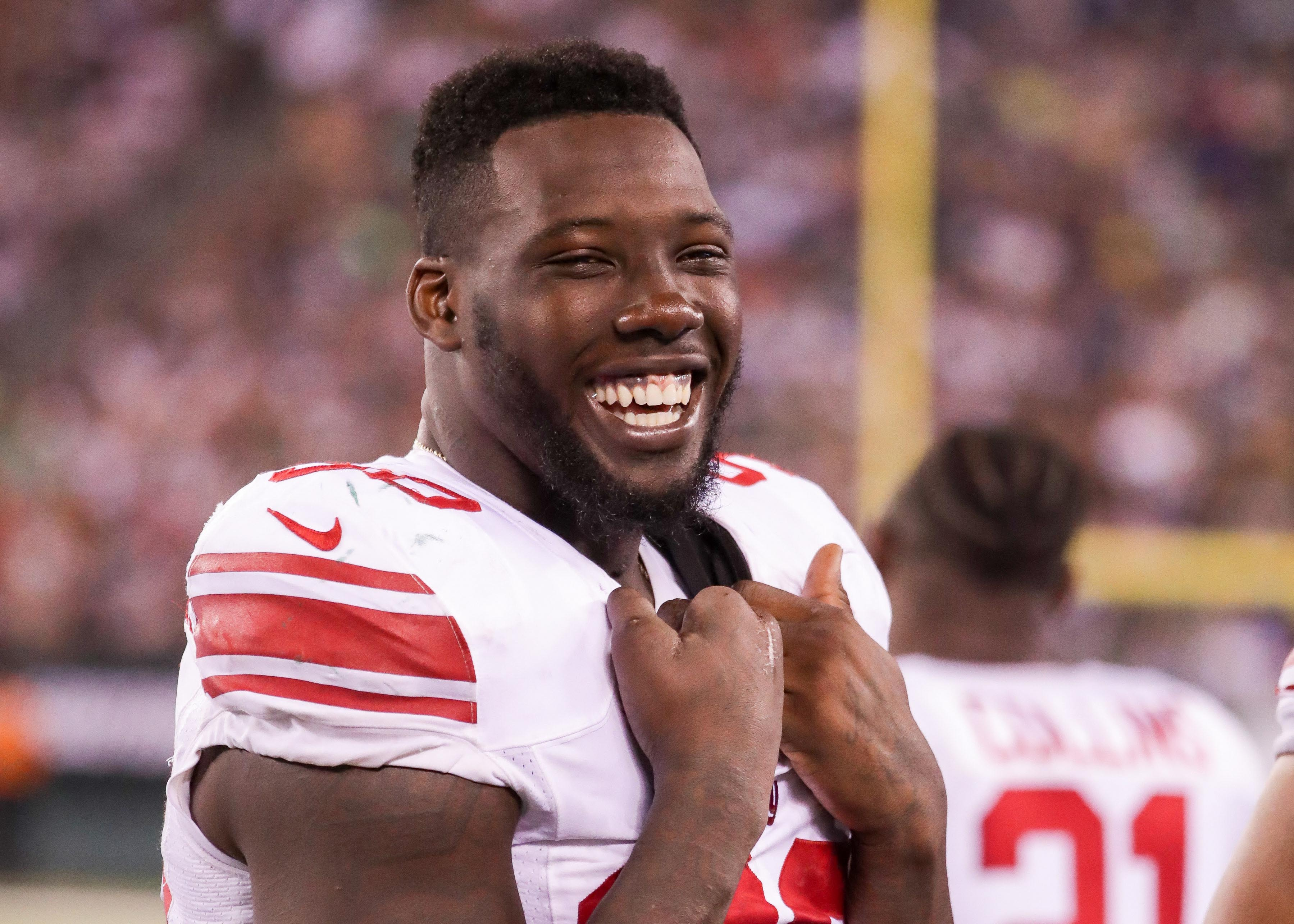 New York Giants Injury Report (10/12): Apple, Pierre-Paul Miss Practice