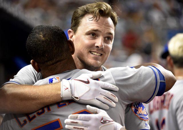 Sep 28, 2016; Miami, FL, USA; New York Mets right fielder <a rel=