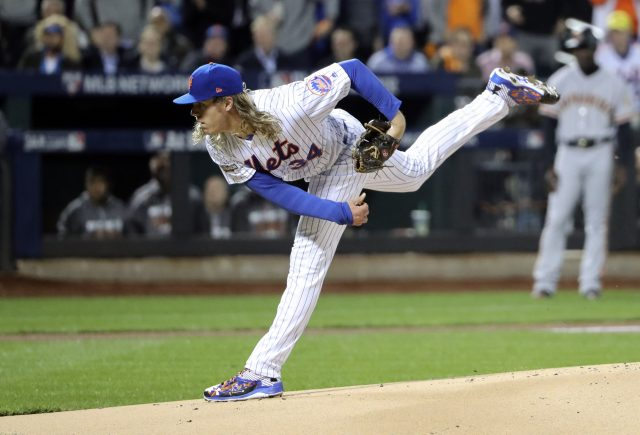 Oct 5, 2016; New York City, NY, USA; New York Mets starting pitcher <a rel=