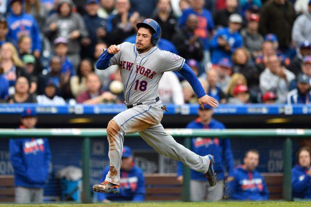 Oct 1, 2016; Philadelphia, PA, USA; New York Mets catcher <a rel=