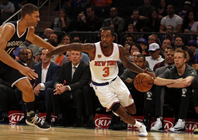 Oct 8, 2016; New York, NY, USA; New York Knicks guard <a rel=