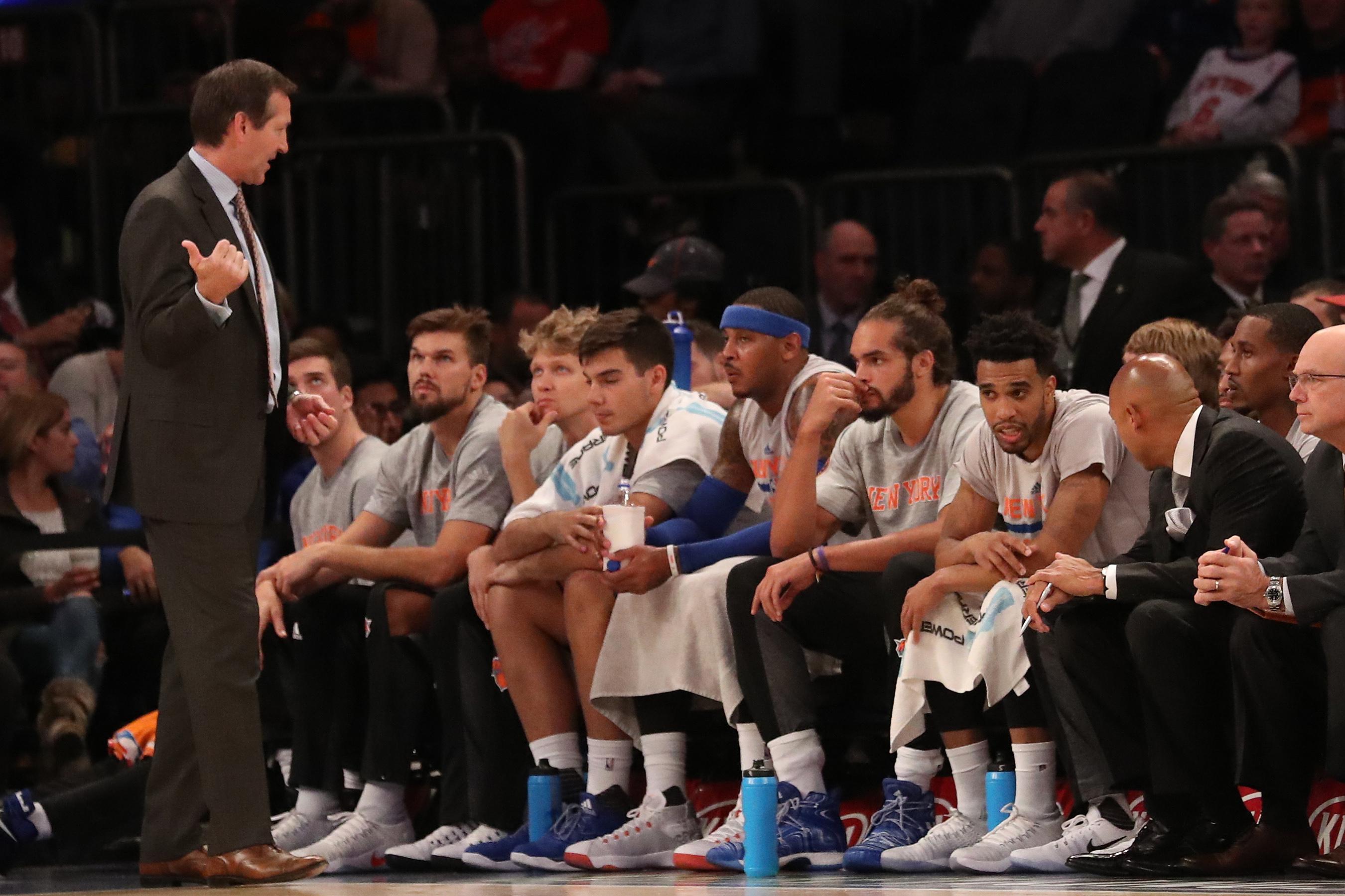 Oct 10, 2016; New York, NY, USA; New York Knicks head coach <a rel=