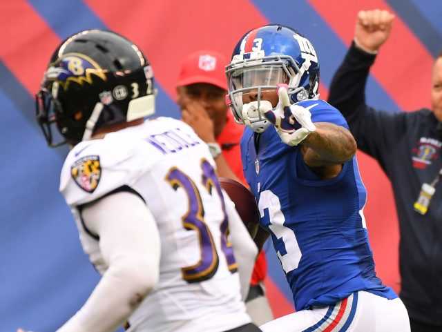Oct 16, 2016; East Rutherford, NJ, USA; New York Giants wide receiver <a rel=