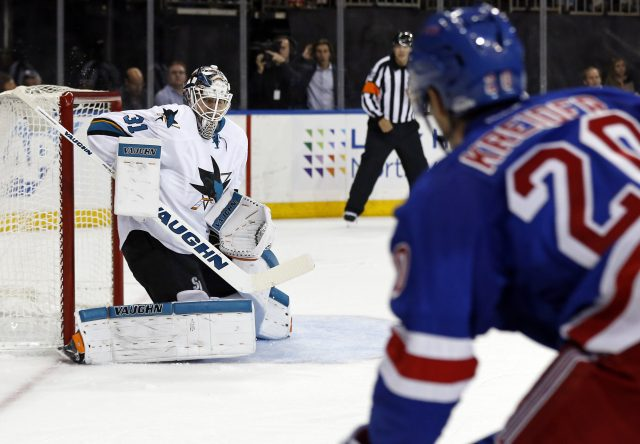 Oct 17, 2016; New York, NY, USA; New York Rangers left wing <a rel=