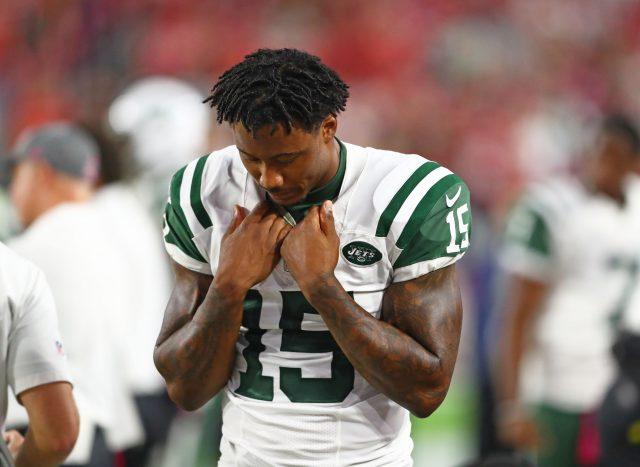 Oct 17, 2016; Glendale, AZ, USA; New York Jets wide receiver <a rel=