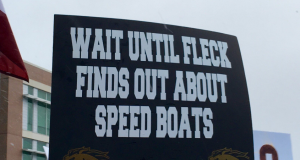The top signs from 'College GameDay' in Kalamazoo