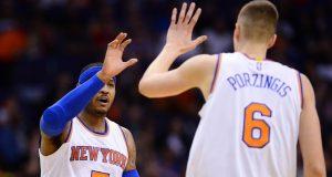 New York Knicks: Carmelo Anthony still in 'awe' of Kristaps Prozingis