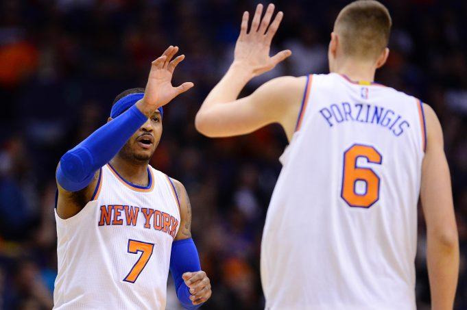 New York Knicks' Carmelo Anthony & Kristaps Porzingis: Keep 'Em Separated 1