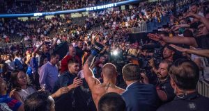 UFC 205: Conor McGregor Swings Chair At Eddie Alvarez, Says 'I Run New York City'