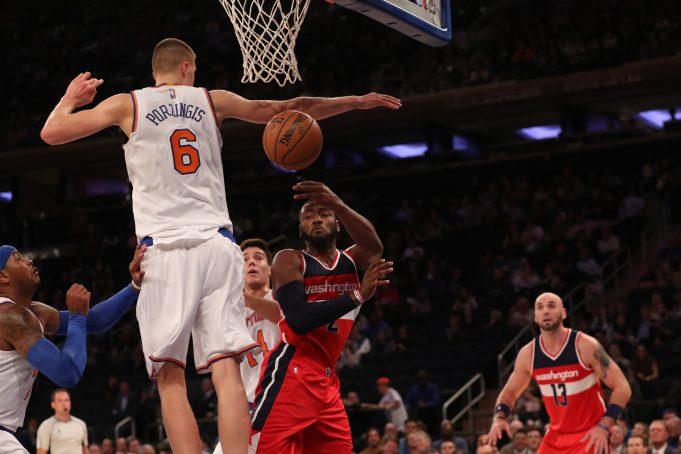 New York Knicks: Every Kristaps Porzingis block benefits youth basketball program