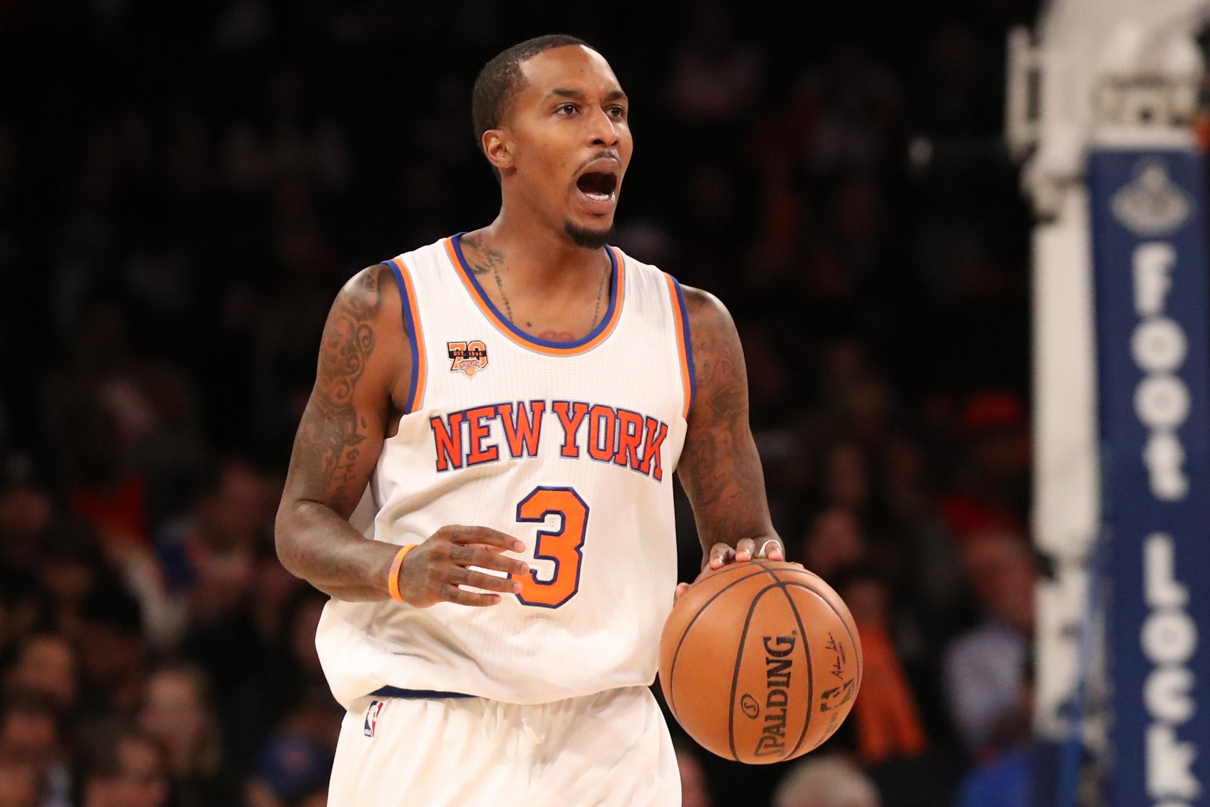 New York Knicks' Brandon Jennings Doesn't Like Helping Up Opponents