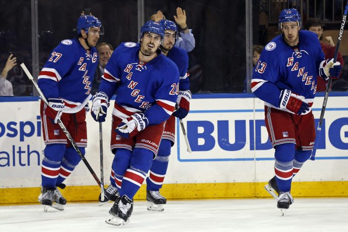 New York Rangers To Showcase Four New Lines Against Calgary Flames