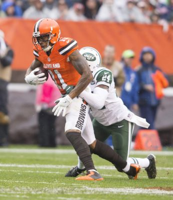 Oct 30, 2016; Cleveland, OH, USA; Cleveland Browns wide receiver <a rel=