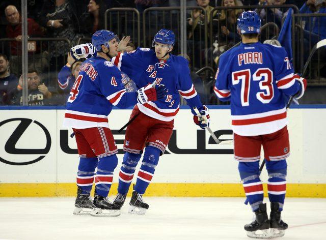 Nov 6, 2016; New York, NY, USA; New York Rangers left wing <a rel=
