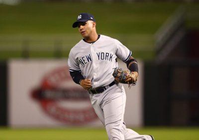 Nov 5, 2016; Surprise, AZ, USA; East infielder Gleyber Torres of the New York Yankees during the Arizona Fall League Fall Stars game at Surprise Stadium. Mandatory Credit: Mark J. Rebilas-USA TODAY Sports