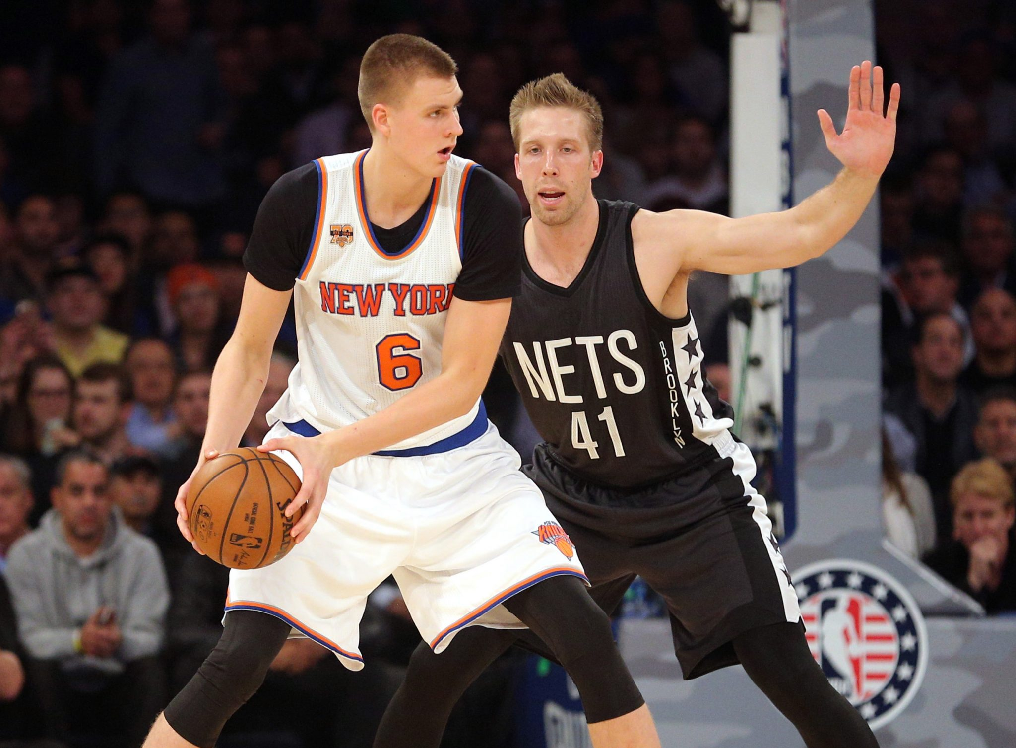 New York Knicks: Kristaps Porzingis is comfortable playing in the post 1