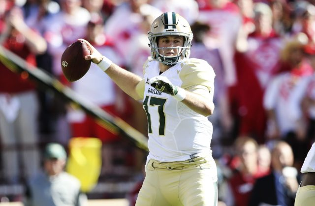 Nov 12, 2016; Norman, OK, USA; Baylor Bears quarterback <a rel=