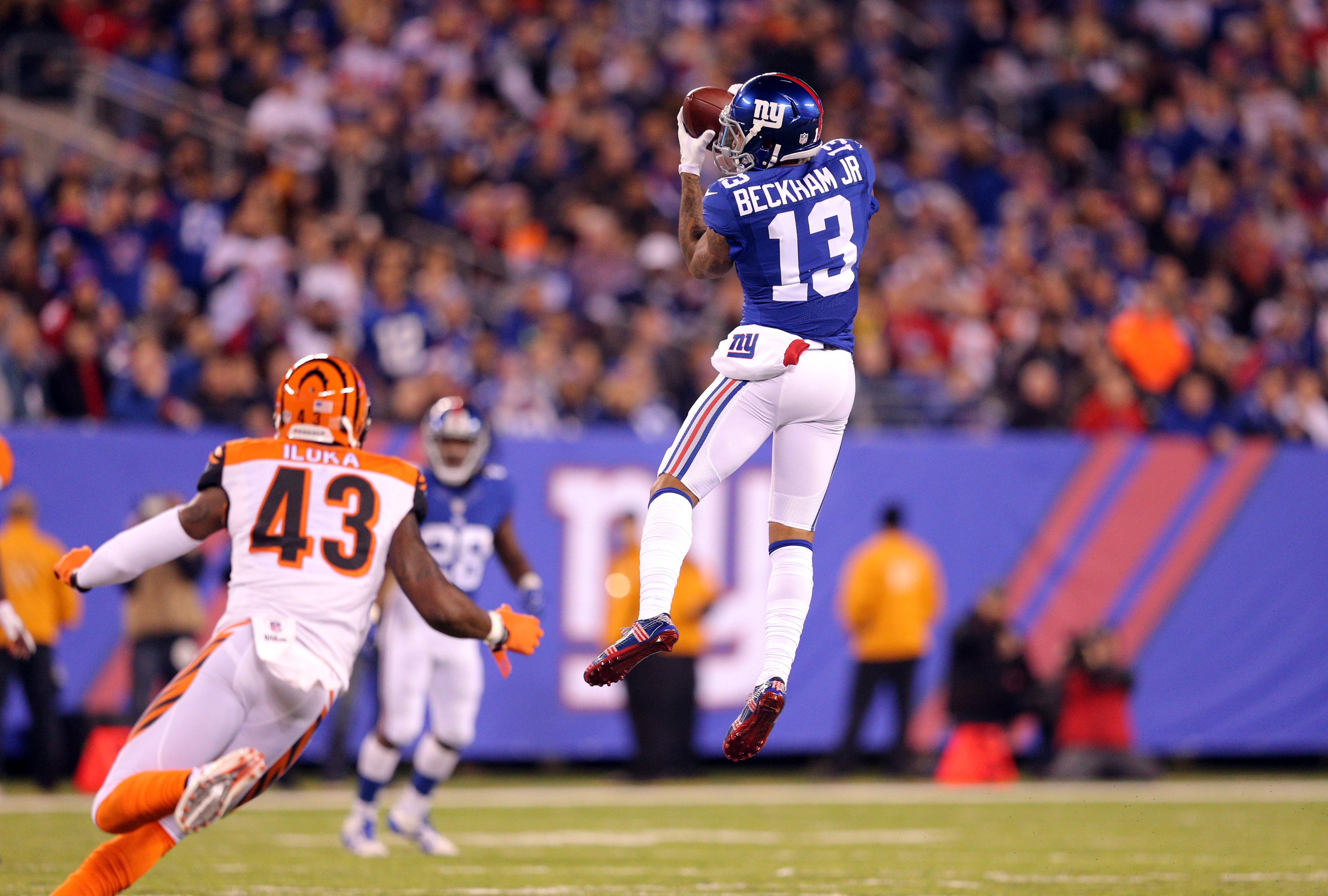 Odell Beckham Jr New York Giants Take Out Cincinnati Bengals