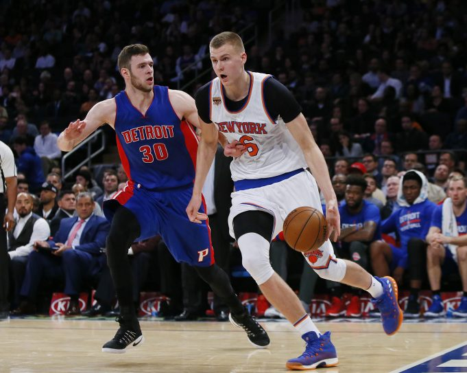 The New York Knicks are Kristaps Porzingis' team now