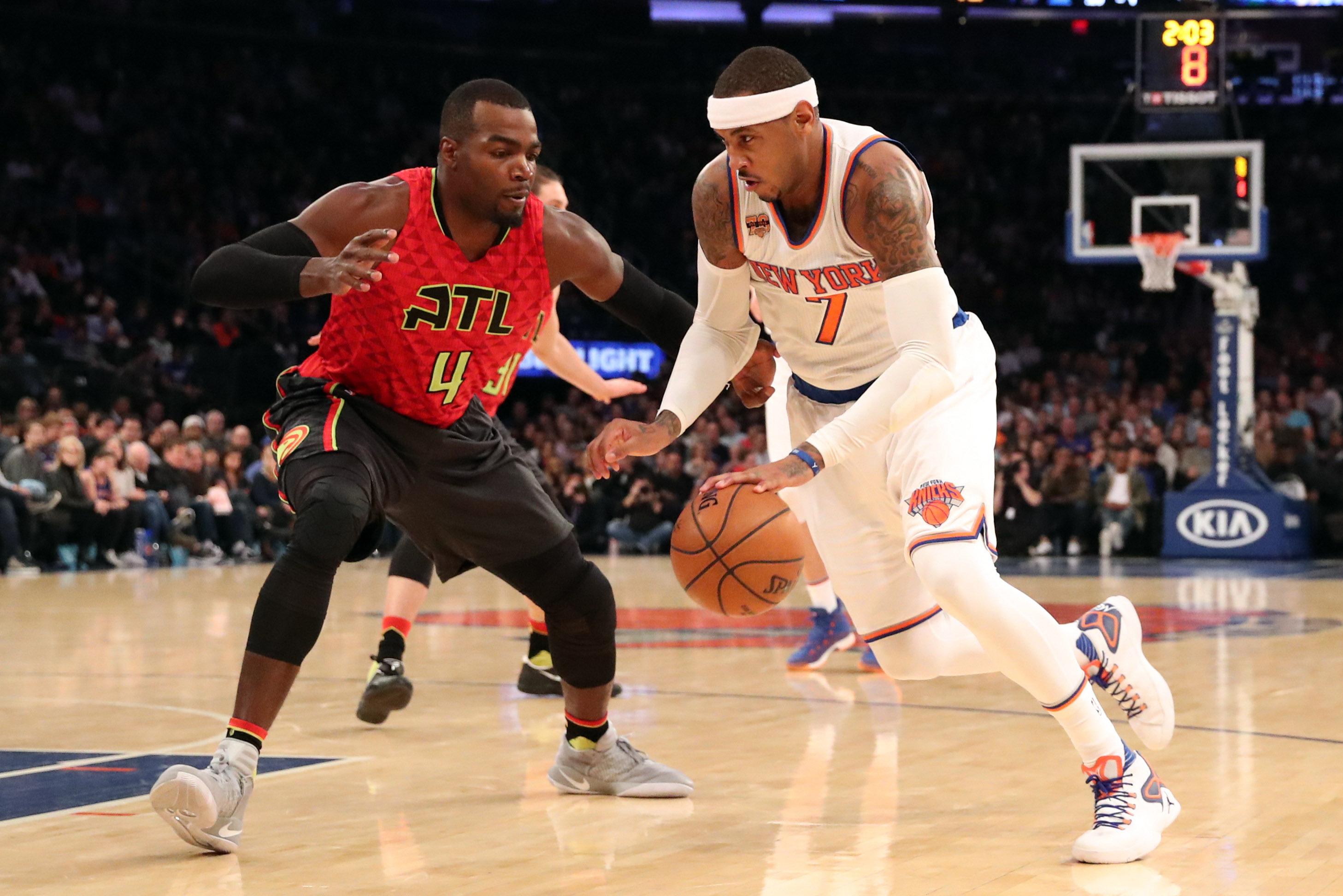 Carmelo Anthony, New York Knicks own matinee against Atlanta Hawks (Highlights) 2