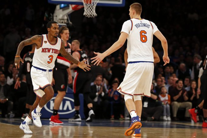 Kristaps Porzingis explodes in New York Knicks win over Blazers (Highlights)
