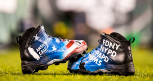 New York Jets: Nick Mangold, Brandon Marshall showcase cause cleats (Photo)