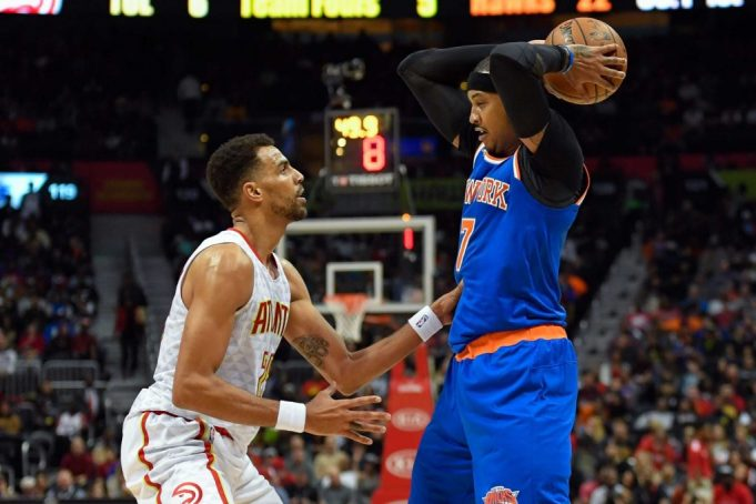 New York Knicks lose ugly OT game to Atlanta Hawks after Melo is ejected (Highlights)