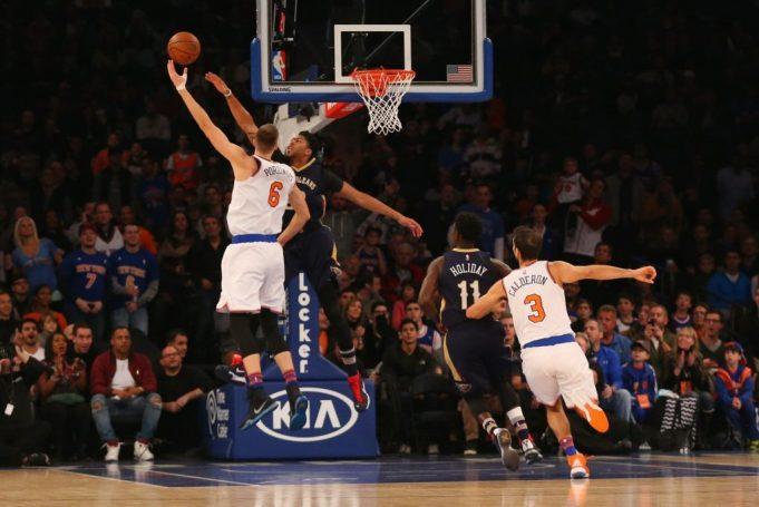New York Knicks' Kristaps Porzingis says he learned a lot from Anthony Davis