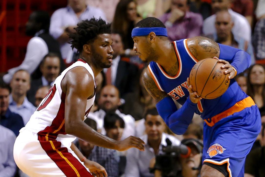 Streaking New York Knicks visit the struggling Miami Heat