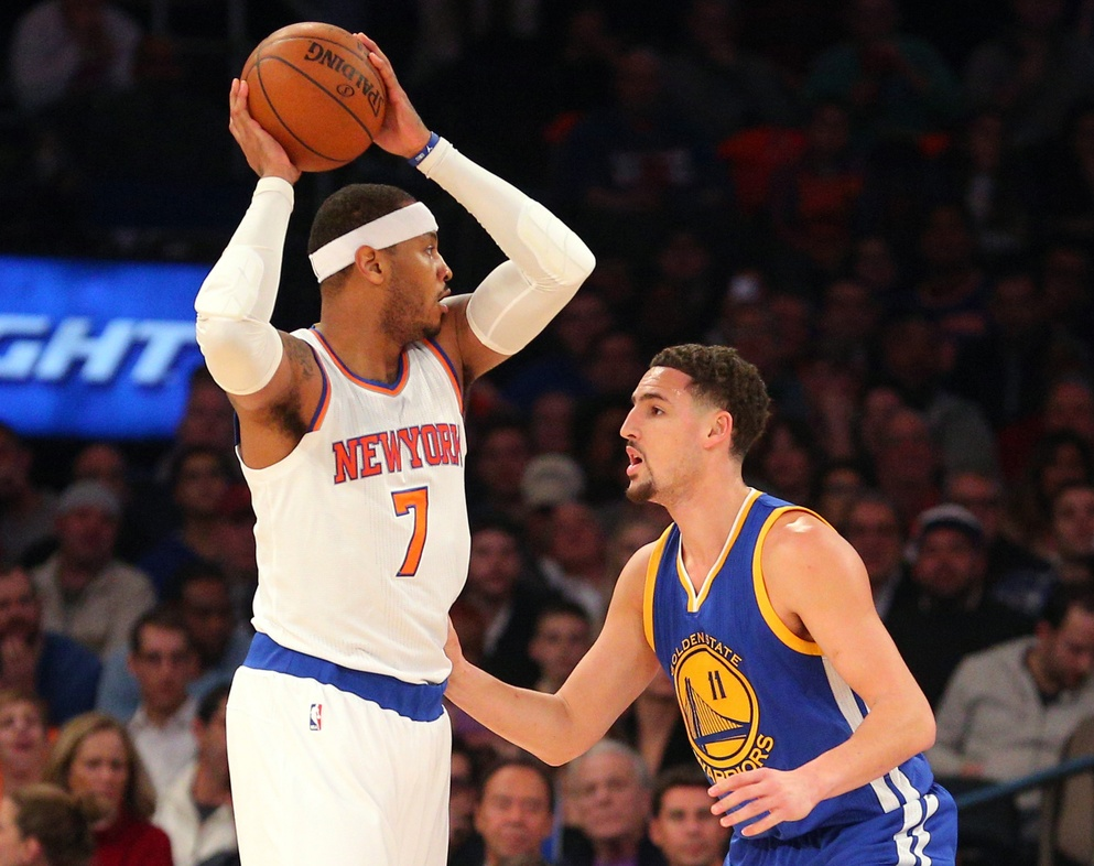 New York Knicks will try to survive without Carmelo Anthony, Derrick Rose against Warriors