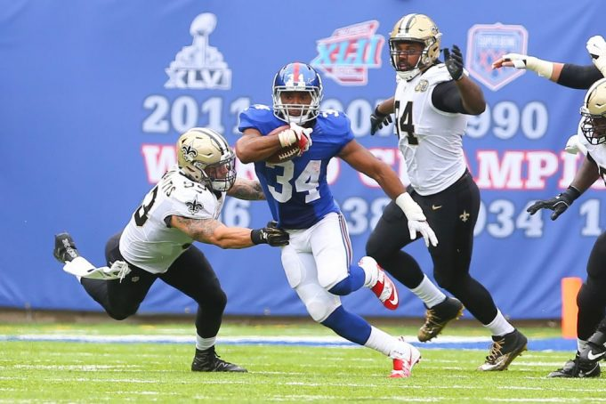 New York Giants' Shane Vereen cleared for Sunday's game