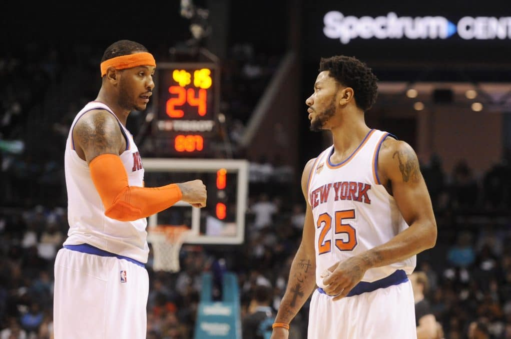 New York Knicks: Derrick Rose, Carmelo Anthony have high expectations