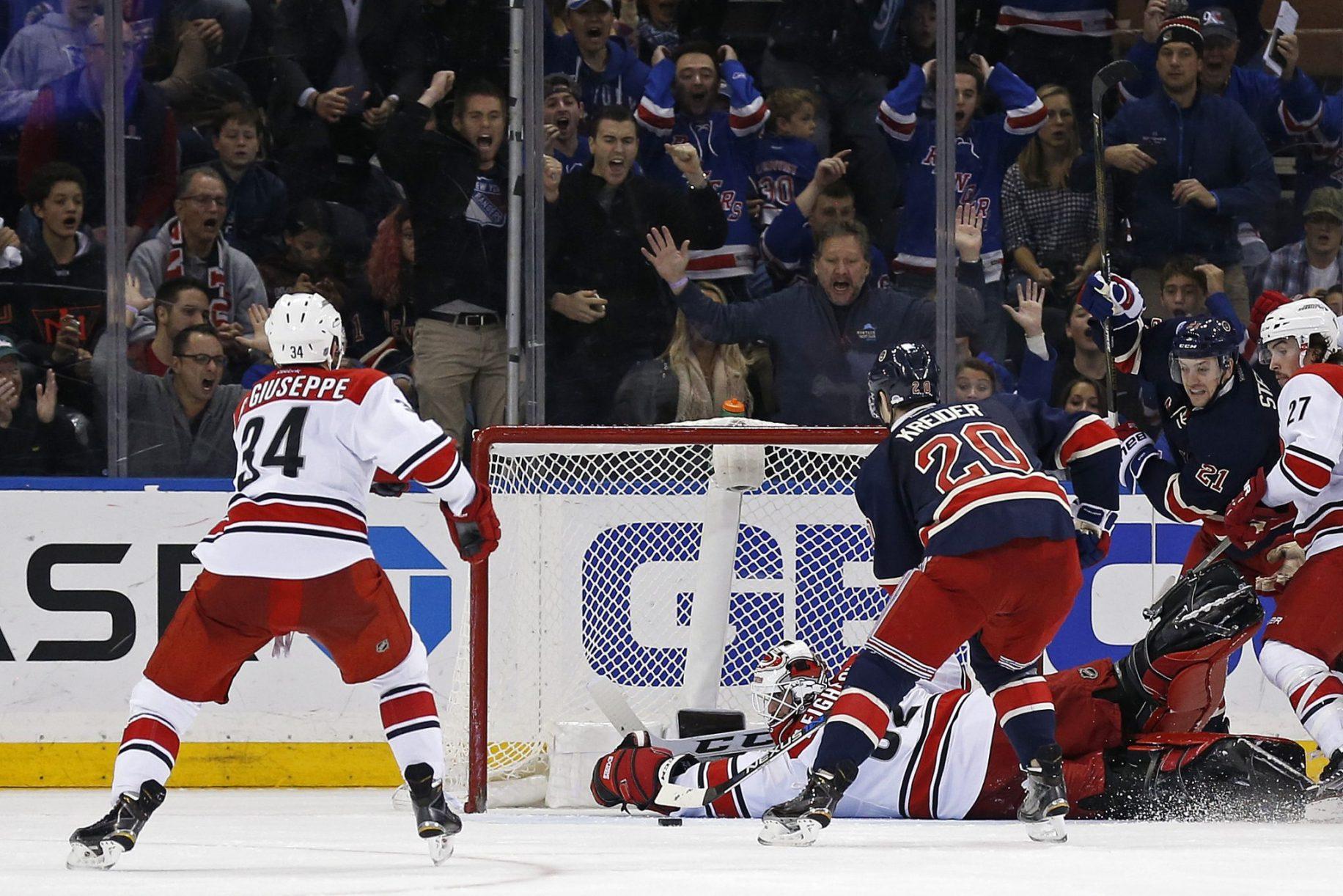Chris Kreider's two goals lift the New York Rangers over the Hurricanes (Highlights) 2