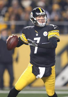 Dec 4, 2016; Pittsburgh, PA, USA; Pittsburgh Steelers quarterback Ben Roethlisberger (7) passes the ball against the New York Giants during the first quarter at Heinz Field. Mandatory Credit: Charles LeClaire-USA TODAY Sports