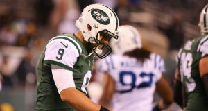 New York Jets' Bryce Petty had a rocky outing
