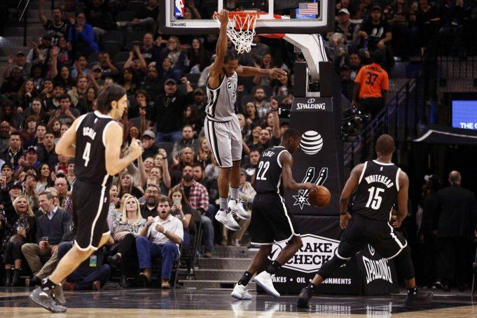 Brooklyn Nets beat down by San Antonio Spurs; Kawhi Leonard nets 30 (Highlights)