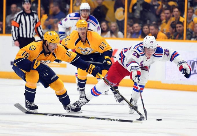 Jimmy Vesey, Mats Zuccarello lead New York Rangers in shootout in Nashville (Highlights)
