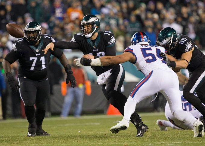 New York Giants demonstrating that defense doesn't travel