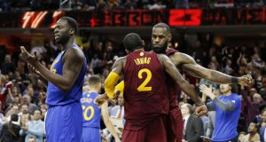 LeBron James and Kyrie Irving remind the Golden State Warriors who is 'King'