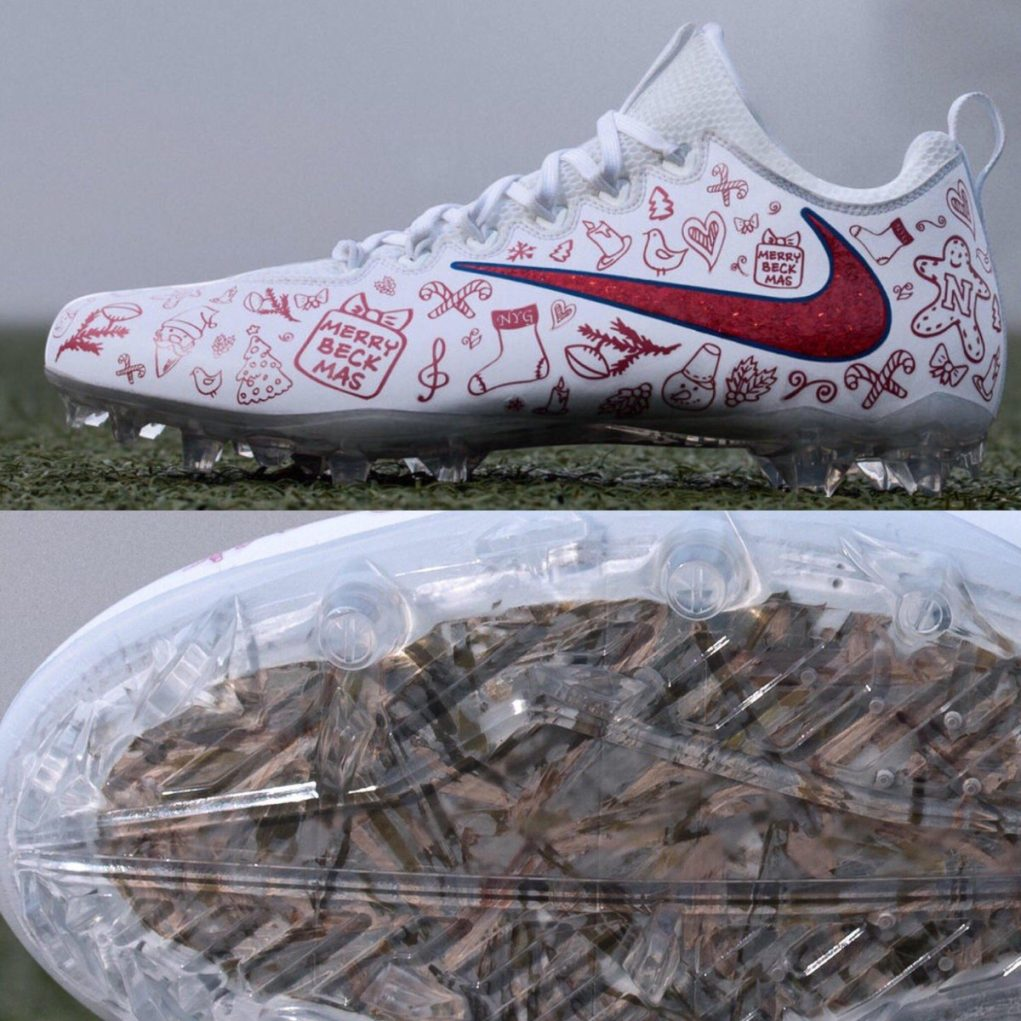0dbf7cd760b Odell Beckham Jr. has his holiday cleats ready for Thursday Night Football  (Photo)