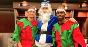 Noah Syndergaard is Santa at the New York Mets Kids Holiday Party
