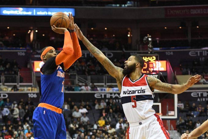 New York Knicks waste another big game from Carmelo Anthony in blowout loss to Wizards (Highlights)